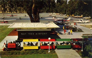 Nut Tree train and airport sign